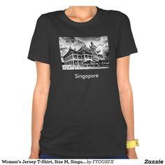Women's Jersey T-Shirt, Size M, Singapore