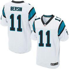 Nike Elite Brenton Bersin White Men's Jersey - Carolina Panthers #11 NFL Road