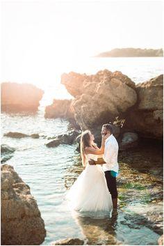 Trash the dress Christophe Serrano photographe mariage six fours sanary