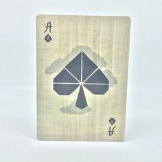 Closer Look: Moku Hanga Number Cards – A Vol d'Oiseau #playingcards #spades #aceofspades