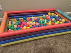 Sommer Pool Party, Ball Pit For Toddlers, Surf Poncho, Strand Pool, Baby Play Areas, Baby Playroom, Diy Pool, Playroom Organization, Toy Rooms