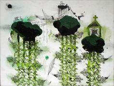 John Pule Stock Printmaking, Symbols, Culture, Landscape, Plants, Inspire, Painting, Artists, Inspiration
