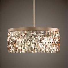Textured Scales Chandelier — Gold