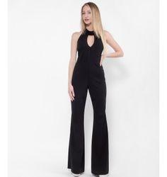 Ολόσωμη Φόρμα με Choker και Μικρό V στο Στήθος - Μαύρο Jumpsuit, Dresses, Fashion, Overalls, Vestidos, Moda, Monkeys, Fashion Styles, Jumpsuits