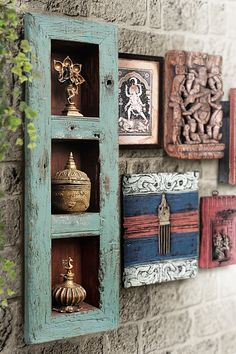 Afday : art for everyday Indian Room Decor, Ethnic Home Decor, Indian Home Interior, Indian Interiors, Home Decor Furniture, Diy Home Decor, Home Crafts, Pooja Rooms, Vintage Walls