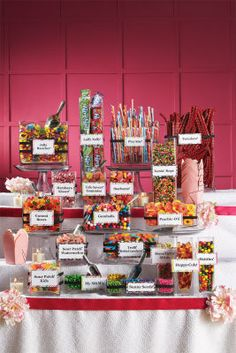 Candy bar wedding favours