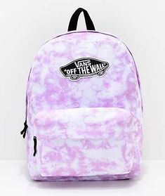 "Known for producing high-grade skate gear, Vans presents the Realm Pink Check backpack. This trendy design features a pink and white checked canvas exterior with a black and white Vans ""Off The Wall"" logo patch on the front. Vans School Bags, Cute School Bags, Vans Bags, School Bags For Girls, Cute Backpacks For School, Cute Mini Backpacks, Cool Backpacks, Teen Backpacks, Leather Backpacks"