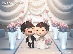 2011 by hjstory Wedding Couple Cartoon, Cute Couple Cartoon, Cute Love Cartoons, Cute Cartoon Characters, Cute Couple Art, Love Couple, Cute Couples, Disney Characters, Hj Story