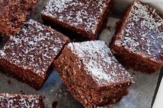 Chocolate coconut slice – Recipes – Bite