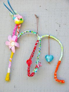 fabric crafts for kids   Fabric Wrapped Initials - Things to Make and Do, Crafts and Activities ...