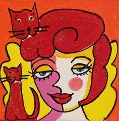 #art #josienbroeren #cat #lady