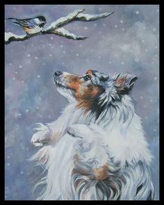Shetland Sheepdog sheltie dog art CANVAS print of LA Shepard painting blue merle Colley, Art Sur Toile, Shetland Sheepdog Puppies, Dog Artist, Herding Dogs, Rough Collie, Canvas Art, Canvas Prints, Art Prints
