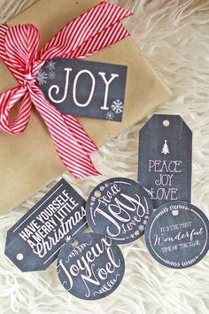 Printable Christmas Gift Tags! SO cute!!