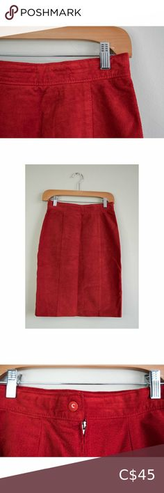 """Vintage Red Suede Mini Skirt How amazing is this Fierce Piece!  Vintage Red Suede Skirt Tag Says: 7 Flat Laid Measurements in Photos :)  Fully lined on the inside.  Offers are always welcome! All our items are washed or steam cleaned Pre-Loved & Vintage pieces come with extra """"love"""" Stored in a non-smoking environment  20% of our profits go back into Local Charities! Check us out on Instagram: @wabisabi.wardrobe Vintage Skirts Mini Local Charities, Love Store, Suede Mini Skirt, Vintage Skirt, Plus Fashion, Fashion Trends, Smoking, Vintage Ladies, Environment"""