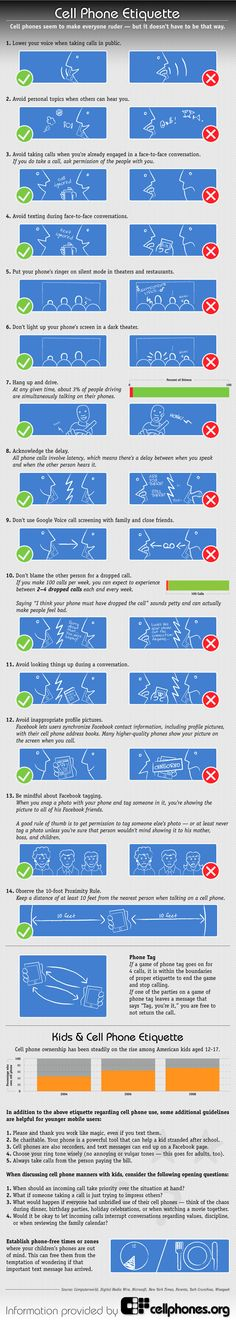 infographic: cell phone etiquette