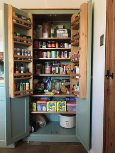 Pantry Organiser Kitchen Larder Utility Room Storage Cupboard with Spice Rack 40 cm or 50 cm Deep All the shelves are adjustable so they can be moved or removed. Maximum sizes are High x or 50 cm Deep Available 60 cm, 80 cm, 90 cm or 100 cm Wide,