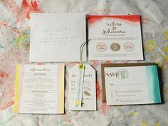 #watercolor #wedding #invitation suite