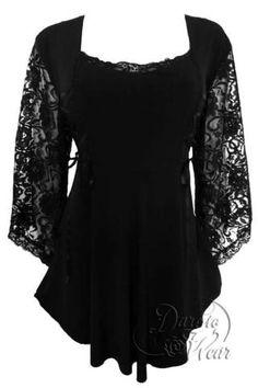 Dare To Wear Victorian Gothic Women's Anastasia Corset Top Black/Black