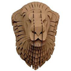 'leon' the cardboard lion head mount