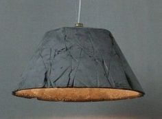 Unusual Concrete Pendant Light with Wrinkles Pattern - Catherina 30