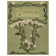 White Lilies Vintage Personalized Bookplates - Perfect Teacher, Hostess Gift