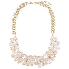 Crystal and Pearl Necklace | $16 | jewelboxonline.com