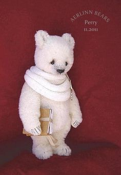 Alpaca Bear 'Perry' from Aerlinn Bears {What a handsome bear!}