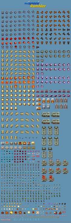 Sprite Database : Vehicles, Characters, & Miscellaneous