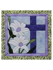 A perfect wall hanging for Easter.  The cross and lillies.