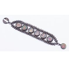 SKU-RPSB01226 - Antique look bracelet made by using oxidized silver