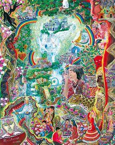 Sinchi Puca Lupuna Painting - Pablo Amaringo