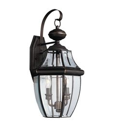Sea Gull Lighting Lancaster 2 Light Outdoor Wall Lantern in Antique Bronze | Other Finishes Avaliable: Antique Brushed Nickel, Black, Polished Brass | Lighting New York