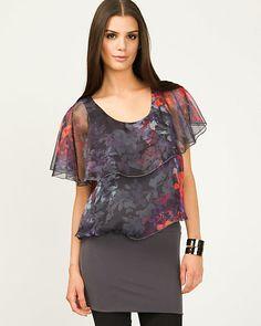 Chiffon Floral Print Blouse