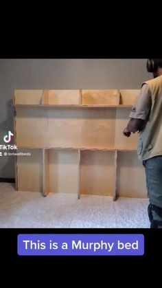 Best Murphy Bed, Murphy Bed Ikea, Minimalist Bedroom, Minimalist Home, At Home Gym, Home Office, Lori Walls, Bed Wall, Space Saving Furniture