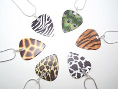 Animal print #plectrum earrings #plectrumjewellery