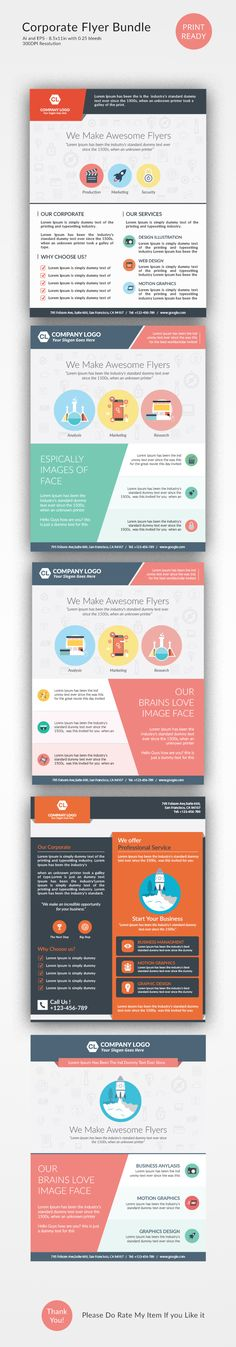 Corporate Flyer Template Psd  Buy And Download Http