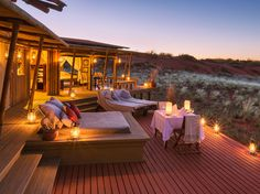 NamibRand Nature Reserve, NamibiaThe Dunes Lodge sits atop a plateau in a private nature reserve in southern Namibia. As you look out from your private veranda, you'll be rewarded with breathtaking views of the Namib Desert. It