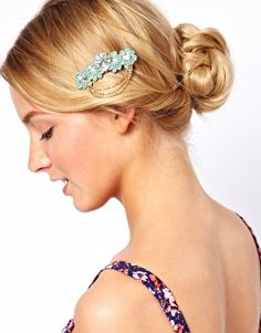 Limited Edition Floral Chain Hair Brooch