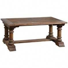 The natural beauty of salvaged wood grain comes though in this rectangular coffee table. Style # at Lamps Plus. Reclaimed Wood Coffee Table, Salvaged Wood, Plank Table, Wood Stain Colors, Coffee And End Tables, Accent Furniture, Dining Bench, Lamps, Disney Renaissance