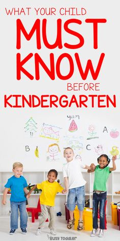 These are the REAL skills kids need for Kindergarten.