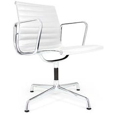 Rove Concepts Ea106 Aluminum Group Chair - Commercial Series - White... ($330) ❤ liked on Polyvore featuring home, furniture, chairs, accent chairs, white, aluminium furniture, swivel chairs, white chair, retro-classic white accent chairs and white furniture