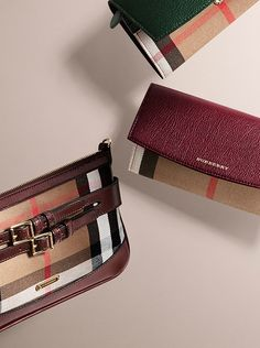 440f639eef8c Bags and wallets from Burberry in iconic check and leather in rich Autumnal  shades Burberry Purse