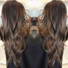 Light brown natural balayage Carmel hair