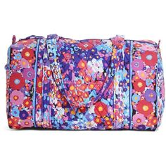 Vera Bradley Small Duffel Travel Bag in Impressionista ($48) ❤ liked on Polyvore featuring bags, luggage and impressionista