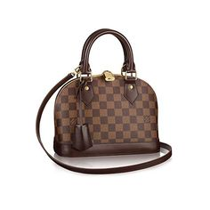 Authentic Louis Vuitton Alma BB Cross Body Handbag Article: Made in France Louis Vuitton Damier, Louis Vuitton Handbags, Louis Vuitton Speedy Bag, Louis Vuitton Monogram, Lv Handbags, Fashion Handbags, Fashion Bags, Replica Handbags, Fashion Women