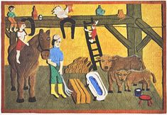 folkart | American Folk art carved and painted picture