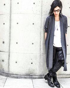 Styling - Washi Long Cardigan / Stretch Slim Pants - zero #zero #zerointernational #washi #blackfashion #darkfashion #black #japan #osaka #madeinjapan #大阪 #ファッション #メンズファッション #和紙 #unisex #ユニセックス #ootd #streetstyle #instagood #日本 #伝統 #traditional #japanesepaper #osaka  #jhp #cardigan #snap #iolom #streetfashion @zero___international @zero_staff_oka