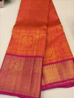 Over - Kanjivaram / Saree Store: Fashion Pink Saree Silk, Wedding Silk Saree, Soft Silk Sarees, Green Saree, Bridal Lehenga, Kanjipuram Saree, Sari, Anarkali, Bridal Sarees South Indian