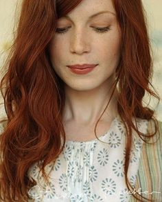 Beautiful orange hair for fall