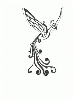 23 Best Simple Phoenix Tattoo Designs Images In 2017 Bird Tattoos
